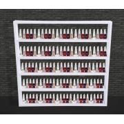 Nicho Expositor Branco de MDF 5 prateleiras 67x64x7 cm
