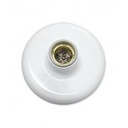 Plafon Receptaculo Porcelana Soquete E27 100W 250V Br Ilumi 180931