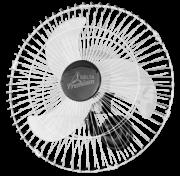 Ventilador de Parede Oscilante Premium 60 cm Cromo
