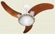Ventilador de Teto Delta Ventus 3 Pás de MDF Mogno