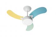 Ventilador de Teto Led Colors Br/Masc 220V+Controle Remoto