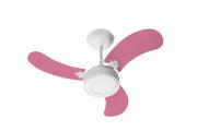 Ventilador de Teto Led Colors Br/Rosa 220V+Controle Remoto