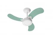 Ventilador de Teto Led Colors Br/Verde 110V+Controle Remoto
