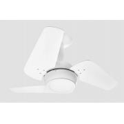 Ventilador de Teto Loft Led Branco 3 Pás Brancas 110 V+Controle
