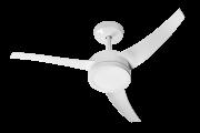 Ventilador de Teto Lunik LED com 3 Pás Controle Fixo 3 Velocidades