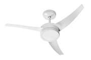 Ventilador de Teto Lunik LED com 3 Pás Controle Remoto