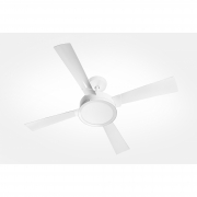 Ventilador de Teto Magnifico Branco 4 Pás Plástico 220 V AML + Controle Remoto