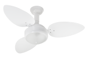 Ventilador De Teto Miray 3 Pás Branco 220V + Controle Remoto