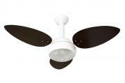 Ventilador De Teto Miray Branco 3 Pás De Mdf Tabaco 220V