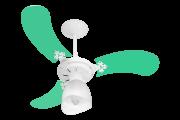 Ventilador De Teto New Baby Colors Br/Vde 110V+Controle Rem.
