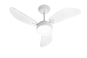 Ventilador de Teto New Cristal LED Branco 110V+Controle Rem.