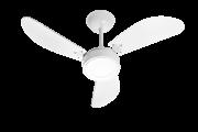 Ventilador de Teto New Cristal LED Branco 220V+Controle Rem.