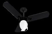 Ventilador de Teto New Delta L. GP Preto 110V+Controle Rem.
