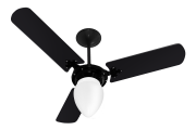 Ventilador de Teto New Delta L. GP Preto 220V+Controle Rem.