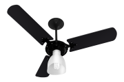 Ventilador de Teto New Delta Light Preto 220V+Controle R.