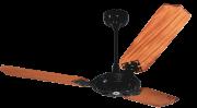 Ventilador De Teto New Delta Max 3 Pás De Mdf Laqueadas Preto 110V