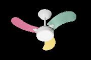 Ventilador de Teto New LED colors 3 Pás de MDF Tric Feminino