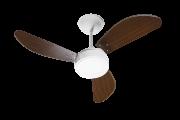 Ventilador de Teto New Light LED 3 Pás de MDF Laqueadas