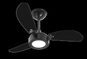 Ventilador de Teto New Light Led Preto 110V+Controle Remoto