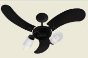 Ventilador De Teto New Spot Delta Preto 3 Pás De Mdf 220V