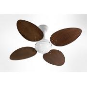 Ventilador de Teto Office Jet Venti-Delta Branco 4Pás Rattan Tabaco 110V+Controle