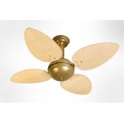 Ventilador de Teto Office Jet Venti-Delta Gold 4Pás Rattan Natural 110V