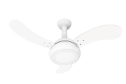 Ventilador de Teto One Led Branco 3 Pás 220V