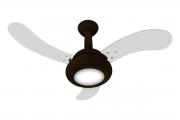 Ventilador de Teto One Led Marrom 3 Pás Branca 110V