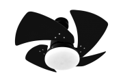 Ventilador de Teto Tornado 4 Pás Preto 110V