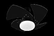 Ventilador de Teto Tornado 4 Pás Preto 110V + Controle Rem.