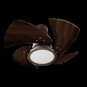 Ventilador de Teto Tornado LED 4 Pás Marrom/Tb 220V