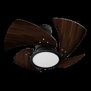 Ventilador de Teto Tornado LED 4 Pás Pr/Tb 110V+Controle R.