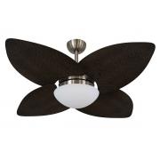 Ventilador De Teto VD42 Dunamis Bronze 4Pás Rattan Tabaco 220V+Controle
