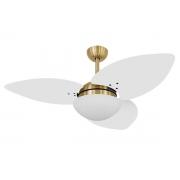 Ventilador De Teto VD42 Dunamis Dourado 3Pás MDF Branco 110V
