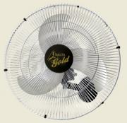 Ventilador de Parede Gold 60 cm Bivolt Aço Preto Cromado 200 W