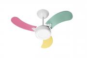 Ventilador Teto New Led Colors 3 Pás Feminino 110V 130 W