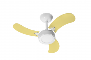 Ventilador Teto New Led Colors Branco 3 Pás Amrl 220V 130 W
