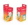 Kit 2 Lampadas LED 9W OuroLux Bivolt Branca 6500K