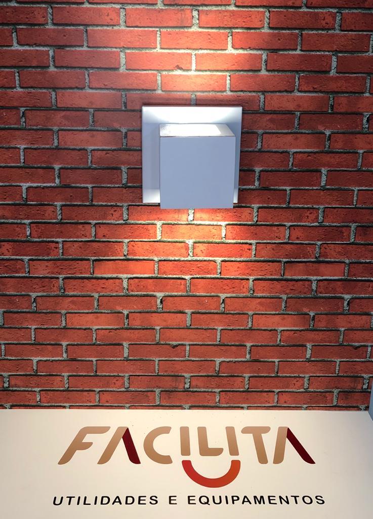 Arandela Ideal Flash Quadrada Branca948 Interna 2 Focos 1 G9