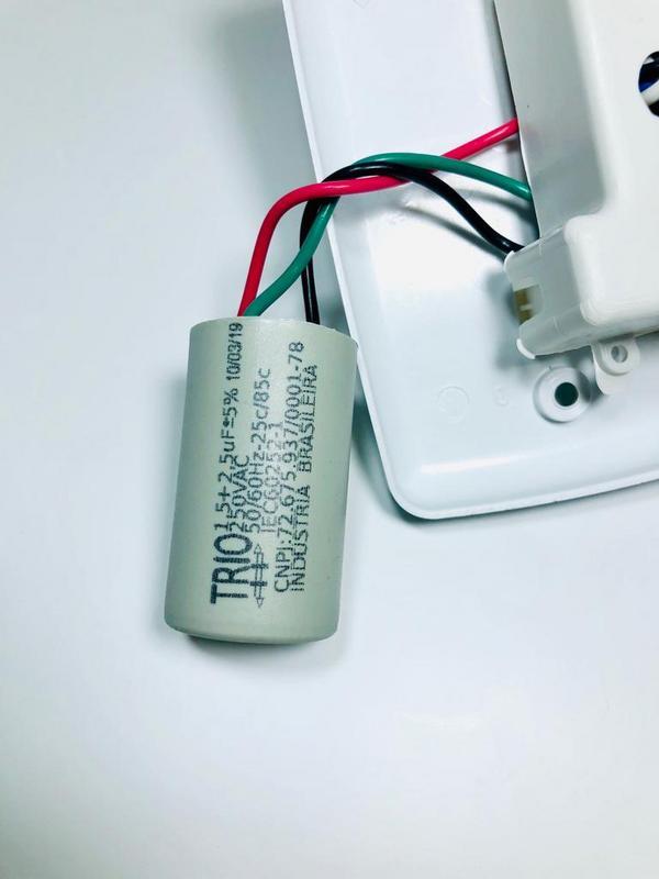 Chave Capacitiva de Parede Com 3 Vel. 220 V 1,5+2,5 uF x 250Vac