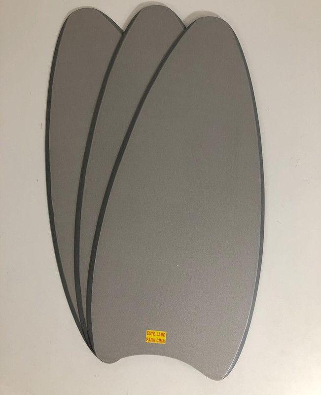 Jogo C/3 Pás Dupla-Face Br/Prata P/ Ventilador de teto Lunar