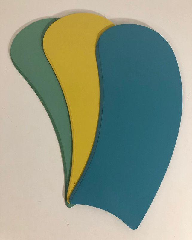 Jogo Com 3 Pás Mini-Art Tric. Fememino Azul, Amarela e Verde