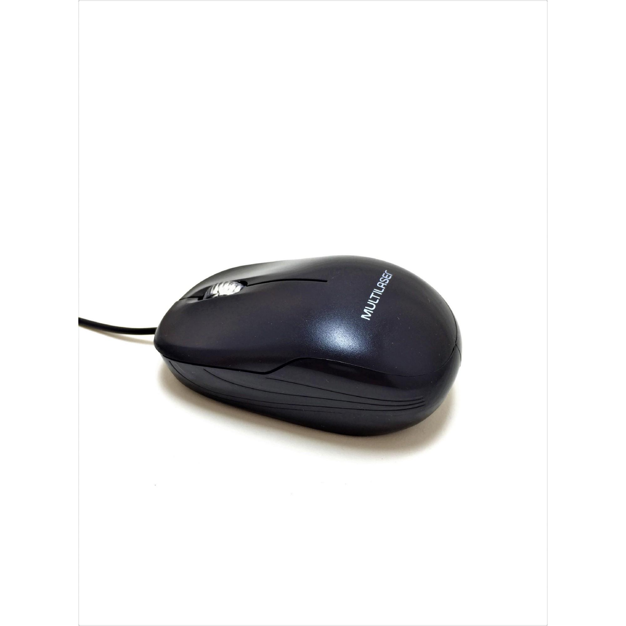 Kit Mouse/Teclado Multilaser Básico Para Escritório Preto