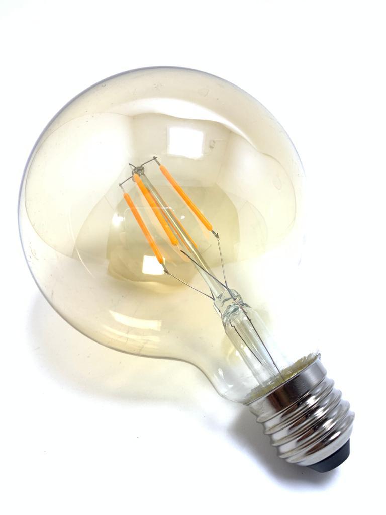Lâmpada Bulbo Filamento Led Vintage Ambar 4W Bi-Volt.