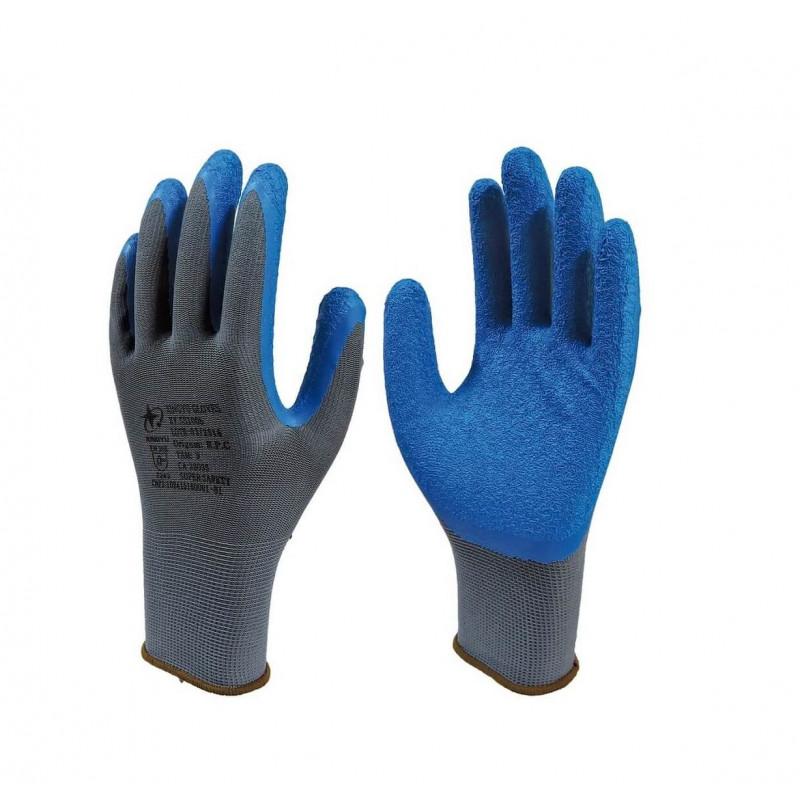 Luva de segurança Super Safety ss1005 Cinza C/ Azul Tam. 10(GG)