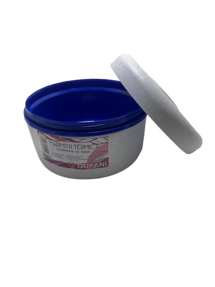 Marmita Termica Gufani 1L Rosca  Branca/Azul.