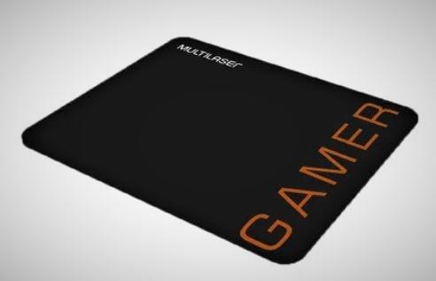 Mouse Gamer Multilaser 3200DPI 6Botões Preto/Laranja - MO274