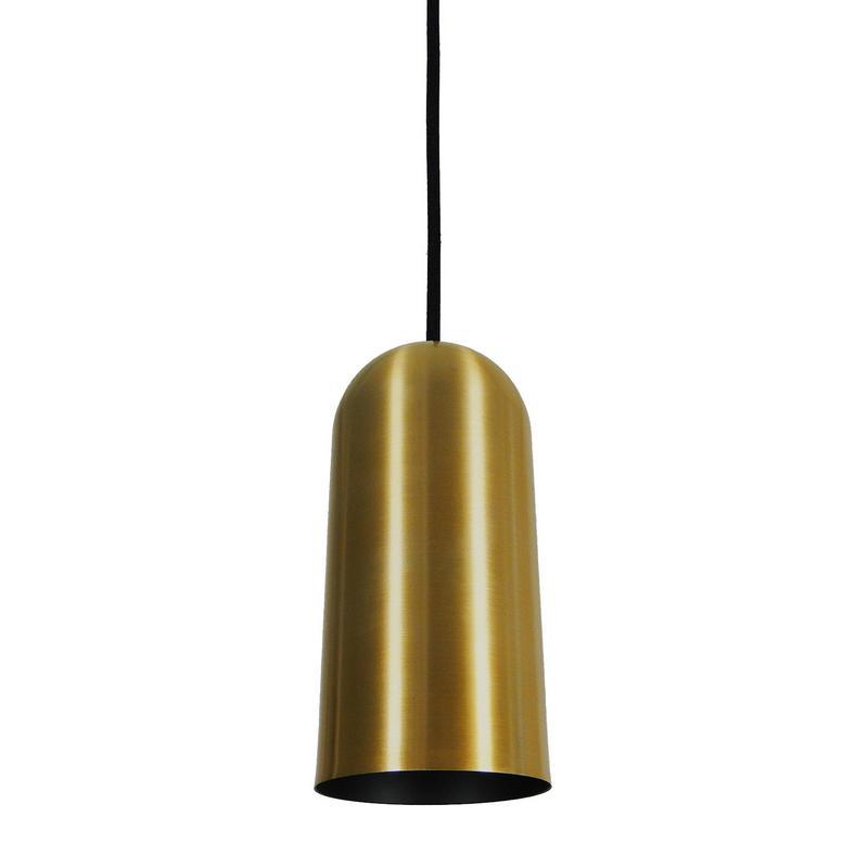 Pendente 1870 Copo de Alumínio Dourado/Preto Fosco 15 cm Bivolt 50769