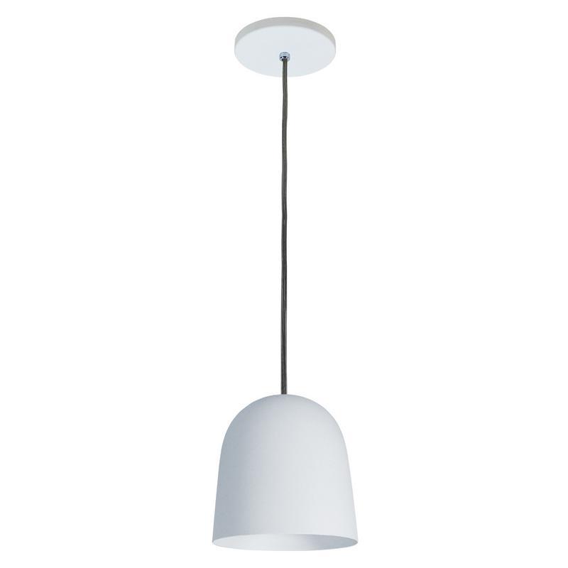 Pendente 1801/1 Copo Moderno de Alumínio Branco Fosco 14 cm Bivolt 52495