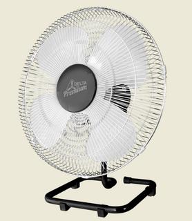 Ventilador De Mesa Premium 50 cm Aço Preto Cromado 170 W